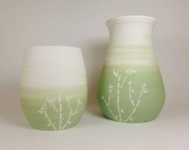 Porcelaine bamboo vert