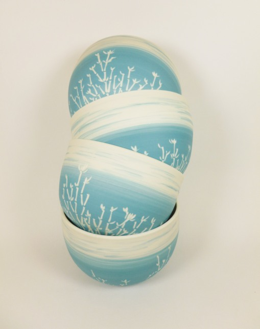 bol porcelaine bambou bleu