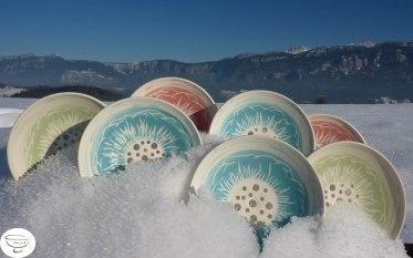 Porte-savon Porcelaine engobe coloré1 Made in B. ceramic