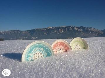 Porte-savon Porcelaine engobe coloré2 Made in B. ceramic