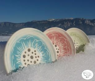 Porte-savon Porcelaine engobe coloré3 Made in B. ceramic