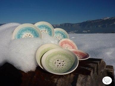 Porte-savon Porcelaine engobe coloré4 Made in B. ceramic