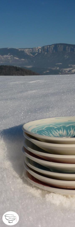 Porte-savon Porcelaine engobe coloré5 Made in B. ceramic