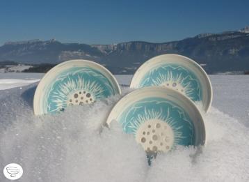 Porte-savon Porcelaine engobe coloré6 Made in B. ceramic